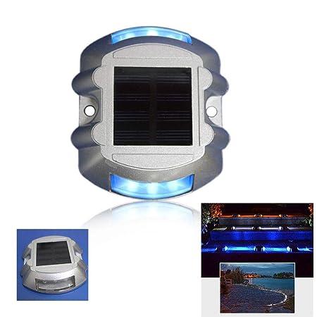 Hardoll Solar LED Road Stud Light Reflectors (Blue Flashing)
