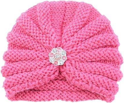 TwoCC-Sombrero de invierno para niños con taladro Sombrero de lana ...
