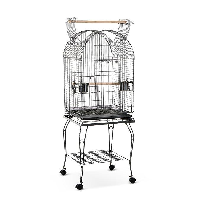 iKayaa Jaula de Metal para Pájaro Mascotas con Tazón de Acero ...