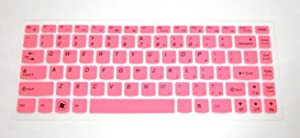 """BingoBuy Semi-Medium Pink Ultra Thin Silicone Keyboard Protector Skin Cover for Lenovo IdeaPad Y480, Y480p, Y470, Y410p, Y400, Y40, Z410, Z480, Z485, Z480, Z470, Z465, Z460A, Z460, Z380A, Z370, Z360, Z40, G410, G485, G480, G475, G470, G40, V485, V480, V470, Flex 14, Flex 2 (14 inch)(if your """"enter"""" key looks like """"7"""", our skin can't fit) with BingoBuy Card Case for Credit, Bank, ID Card"""