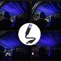 Plug and Play Maodaner USB Car Roof Star Projector Light LED Interior Lamp Violet Blue Romantic Decoration Laser Strip Night Atmosphere Ambient Light