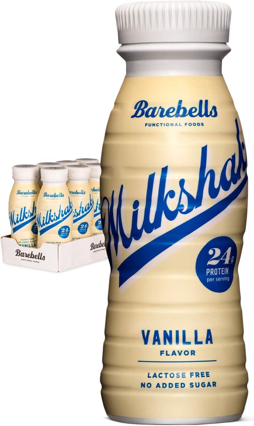 Batido Proteínas Barebells Sabor Vainilla (8 Botellas x 330 ml), Alto Contenido De Proteínas. Sin Azúcares Añadidos y Sin Lactosa, 24 g de Proteínas. ...
