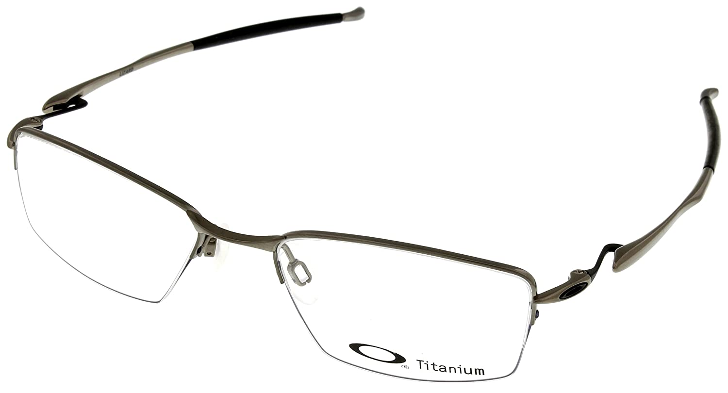 d5153ac3dda Oakley Rx Eyewear Men s Ox5113 Lizard Brushed Chrome Frame Titanium  Eyeglasses