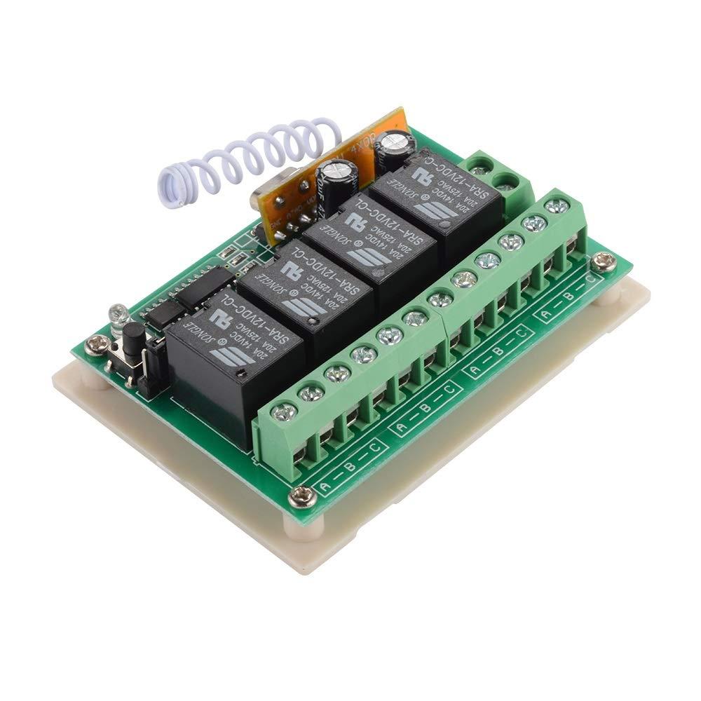 Empf/änger AH449 Kleine einzelteile zu Hause Haushaltsger/äte WFHhsxfh 433 MHz Wireless RF Schalter 12 V 4CH RF Relais Fernbedienung Schalter Modul 4 st/ücke wasserdichte Sender