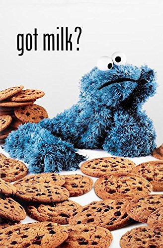 Buyartforless Cookie Monster Got Milk? Sesame Street 36x24 Art Print Poster