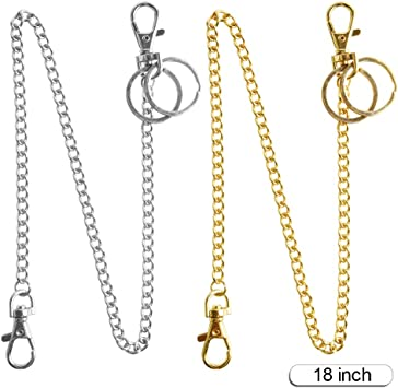3 Pack 16 Inch Pocket Chain//Wallet Chain//Keychain with Lobster Clasp for Jeans Pants Purse Handbag Strap Belt Loop Keys Wallet