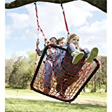 Children's Giant Red Outdoor Backyard Platform Tree Swing 40 L x 30 W, 250 LB Max Capacity
