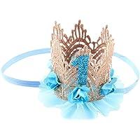 K-youth® Moda Diademas Bebé Niña Princesa Fiesta Elasticas Banda de pelo Corona Flores de encaje Cintas Para El Pelo Niñas Accesorios Para El Cabello Diademas Bebe Bautizo Cumpleaños