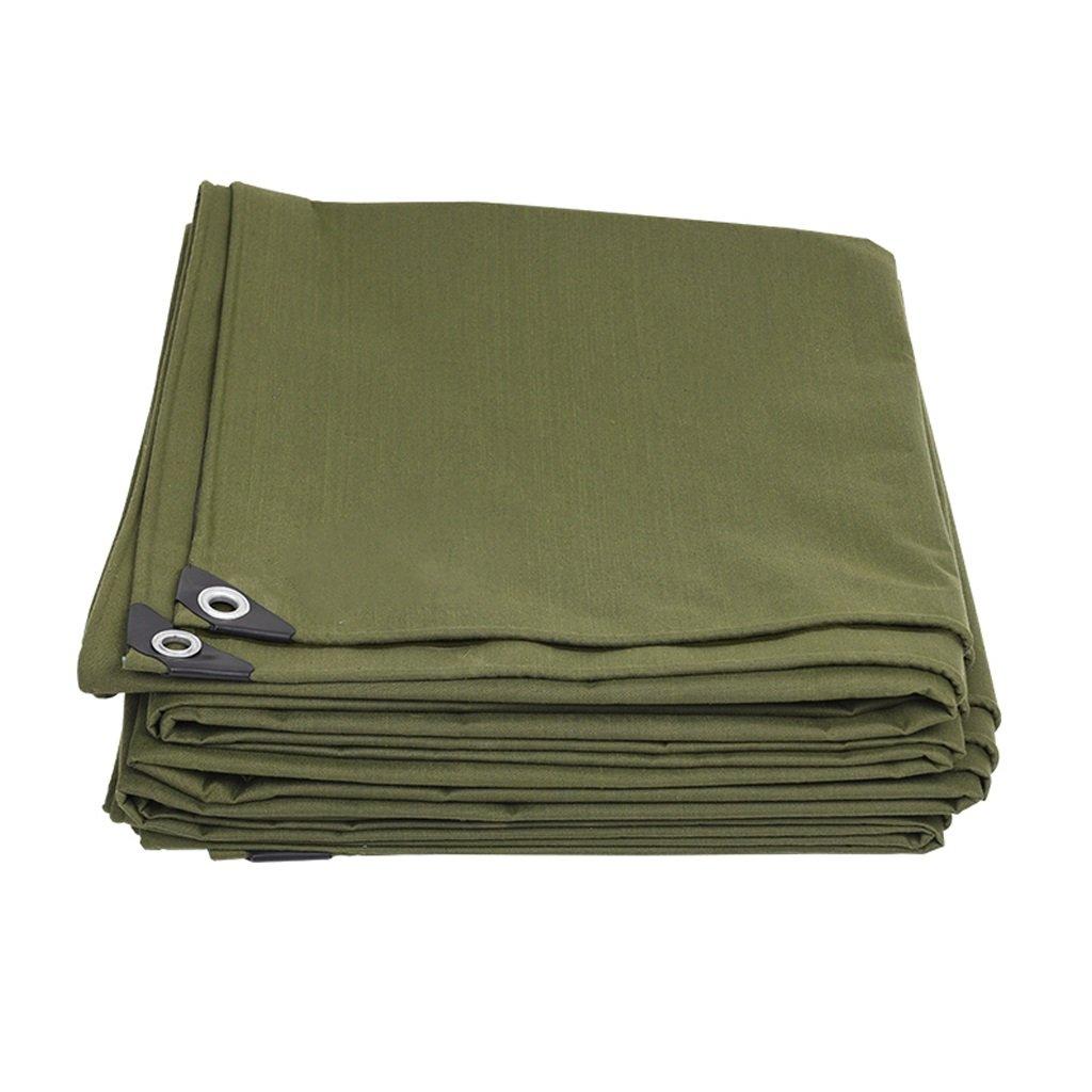 WSGZH Militärgrünes Dickes Segeltuch-im Freienregen-Schatten-Tuch-Mehrzweckkampierenfischen-Gartenarbeit-Sonnencreme Kaltes 600G   M2, Stärke 0.7mm