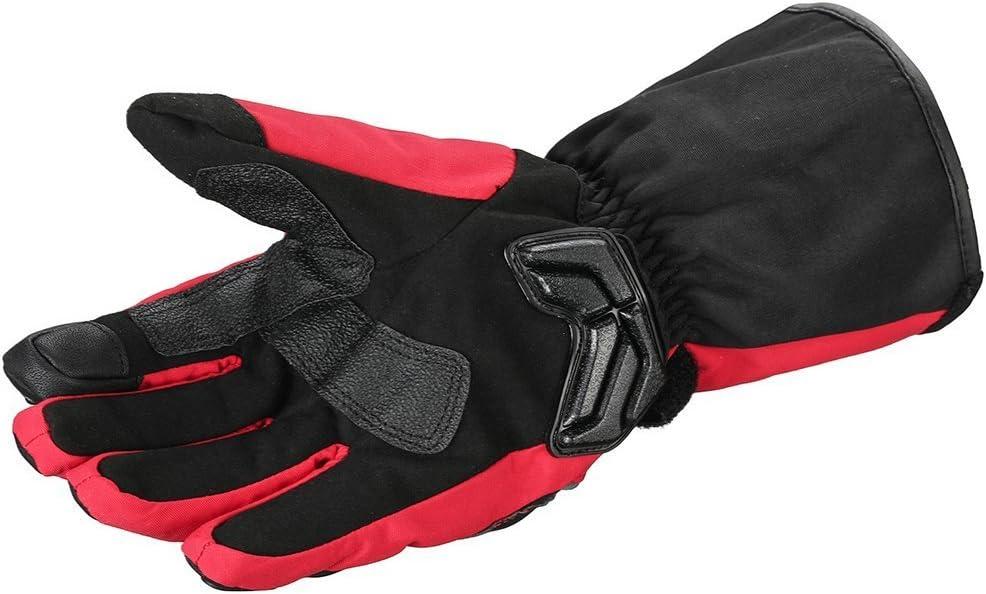 ILM Alloy Steel Motorcycle Riding Gloves Warm Waterproof Windproof for Winter Use WINTER M, GREEN