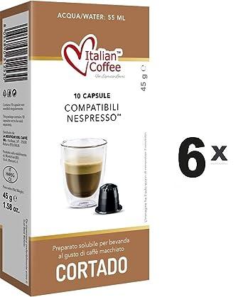 Capsulas Compatibles Nespresso - Cafe Cortado con Leche - 60 Bebidas