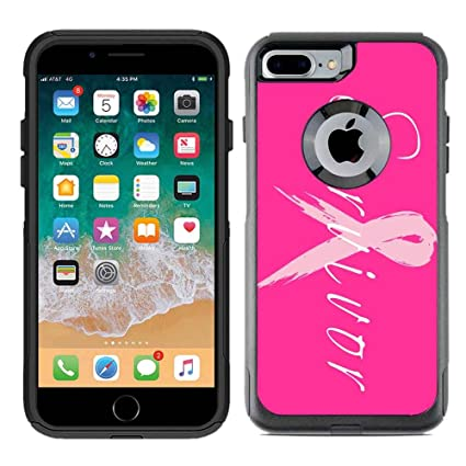 the best attitude 8b7a3 a54e4 Protective Designer Vinyl Skin Decals for OtterBox Commuter iPhone 7  Plus/iPhone 8 Plus Case - Survivor Breast Cancer Design Pattern - Only  Skins and ...