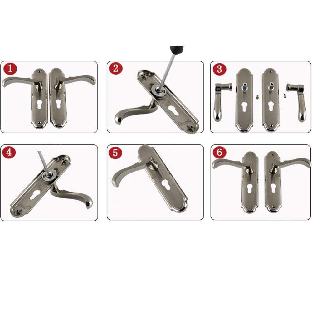 Aluminum Entry Indoor Lever Door Lock Set Bedroom Handle Knob Lockset & Keys by TFCFL (Image #6)