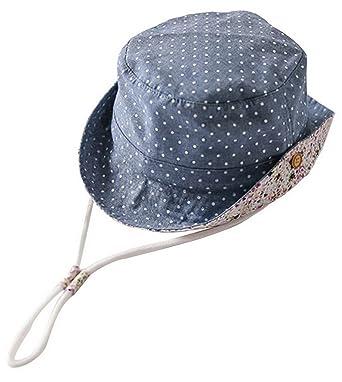 7e1d0b0cee2 La Vogue Bob Pêche Soleil Coton Chapeau Anti-UV Bébé Enfant Outdoor Été  Bleu 44cm