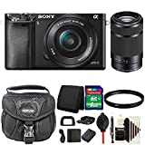 Sony Alpha A6000 Mirrorless Digital Camera with 16-50mm Lens (Black) and 55-210mm Lens Accessory Kit For Sale