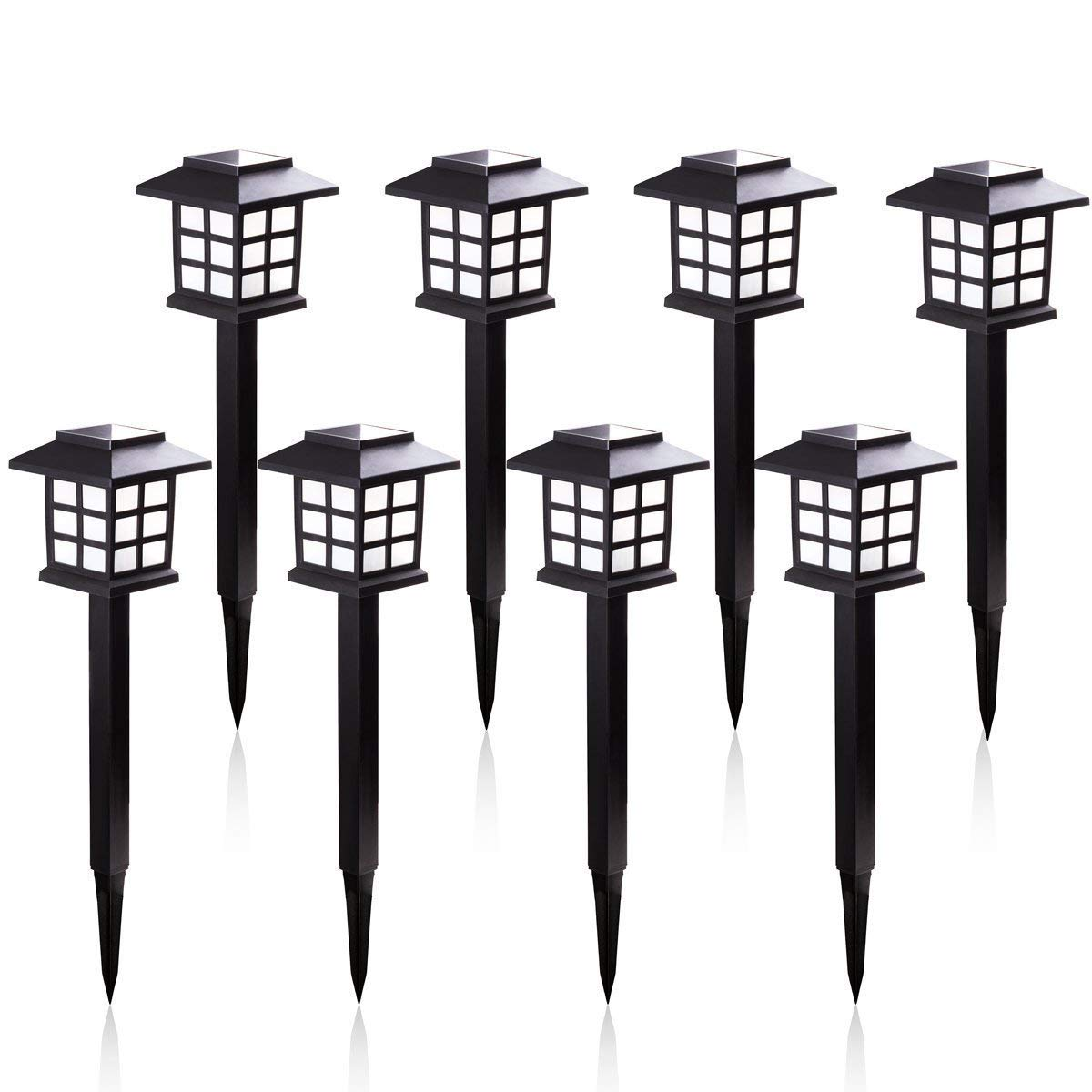 KODOO 8Pack Solar Pathway Lights Outdoor, Outdoor Garden Lights, Solar Pathway Lights, Outdoor Landscape Lighting for Lawn/Patio/Yard/Walkway/Driveway