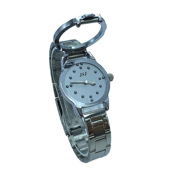 Reloj De Pulsera Braille para Invidentes o Personas Mayores Gris Dial (Mujer)