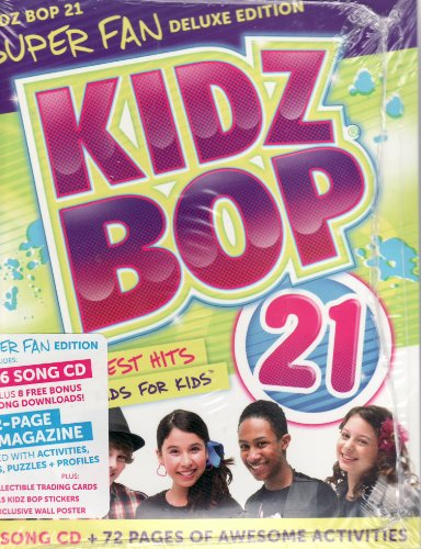 Kidz Bop 21 LIMITED EDITION Super Fan Club Deluxe Edition CD Includes 15 Song CD Plus 8 Free Downloads and 72 Page Magazine