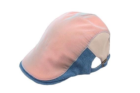 6a61d6a9 ACVIP Men Women Patchwork Newsboy Flat Cap Ivy Sun Hat (Pink): Amazon.co.uk:  Clothing