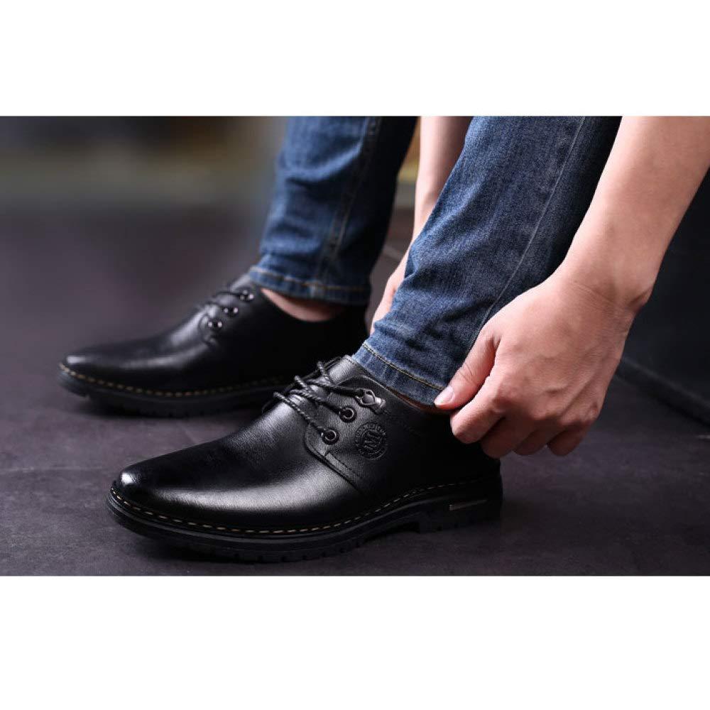 Männer Mode Leder Schuhe Casual Schuhe Business Schuhe Breathable Single Schuhe Casual Lace-up schwarz 12e231