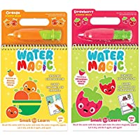 Scent Masters Water Magic - Reusable Water Reveal Activity Pads 2-Pack - Strawberry and Orange Scented