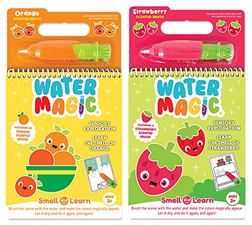 Scentco Water Magic – Paint with Water Activity Kit 2-Pack – Strawberry and Orange Scented Water Reveal Pads