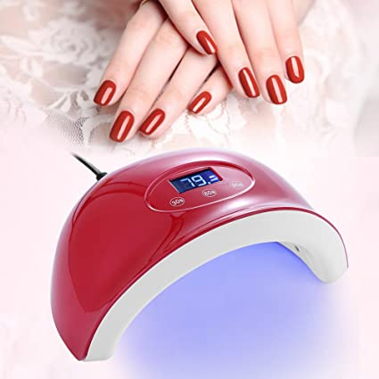 Lámpara de uñas,Secador de uñas profesional 24W LED con lámpara de uñas UV para