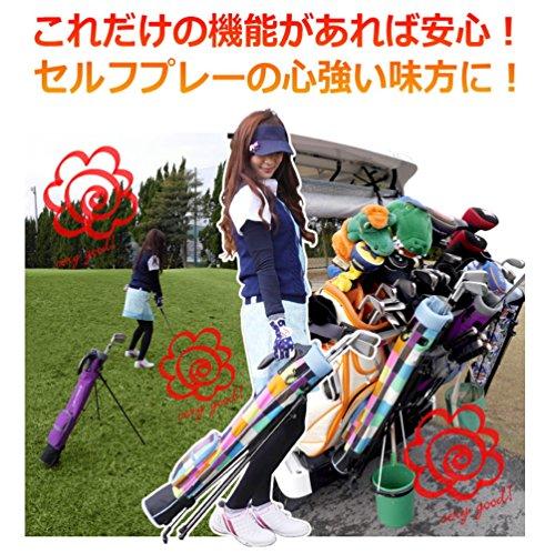 Azrof Golf Women's Half Size Club Case Caddie Stand Bag, Pink Camo by Azrof Golf (Image #3)