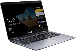 "ASUS VivoBook Flip Thin and Light Laptop, 15.6"" Full HD Touchscreen, Intel Core i7-8550U Processor, 8GB RAM, 2TB HDD, Windows 10"