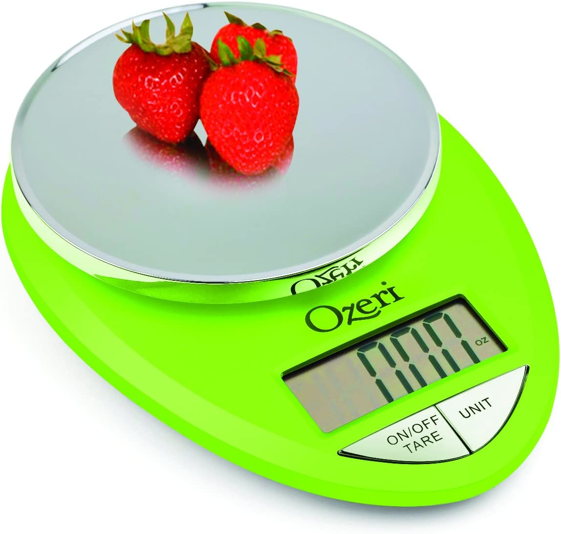 Ozeri ZK12-L Pro Digital Kitchen Food Scale, 1g/12 lb, Lime Green