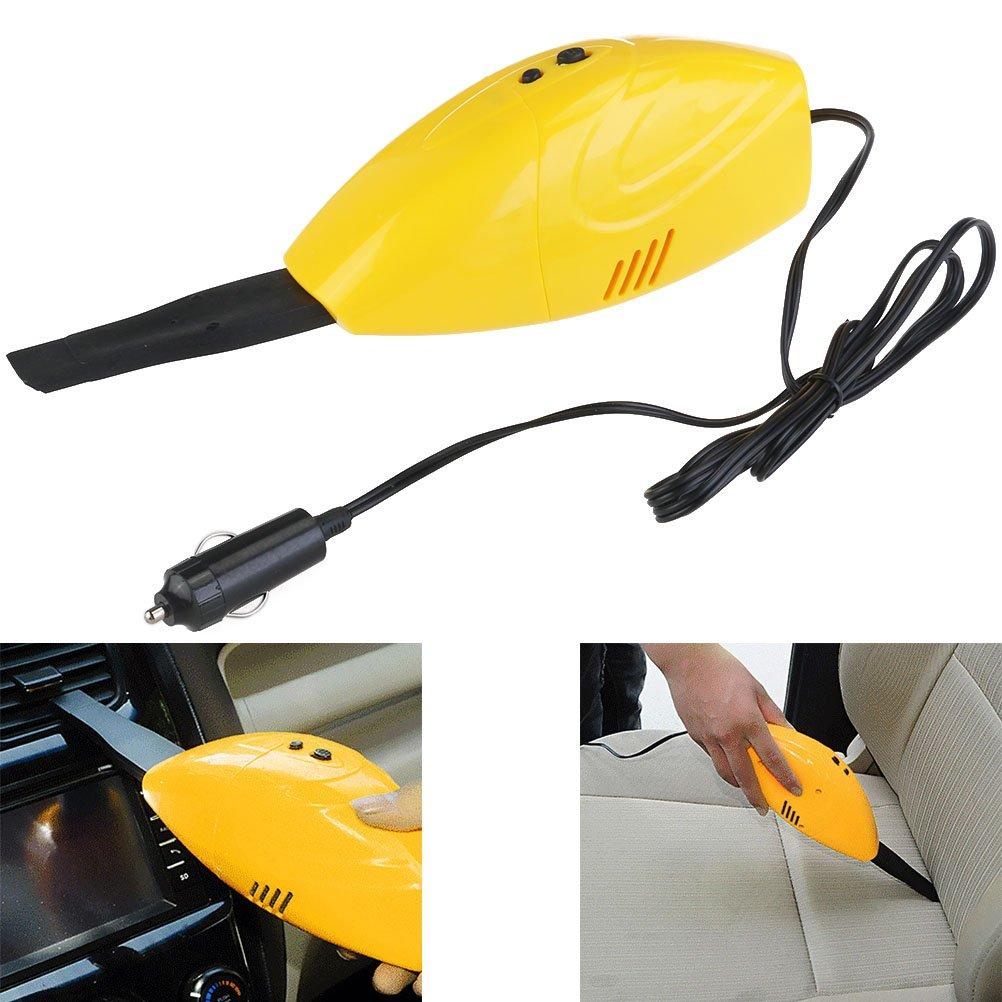 UEETEK OM-5007 portá til potente 12V DC coche uso aspirador colector de polvo (amarillo)