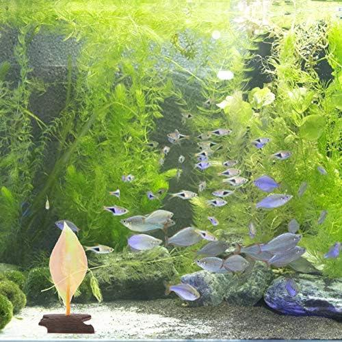 Almohadilla de hoja de pez betta con ventosa hamaca de hojas 4