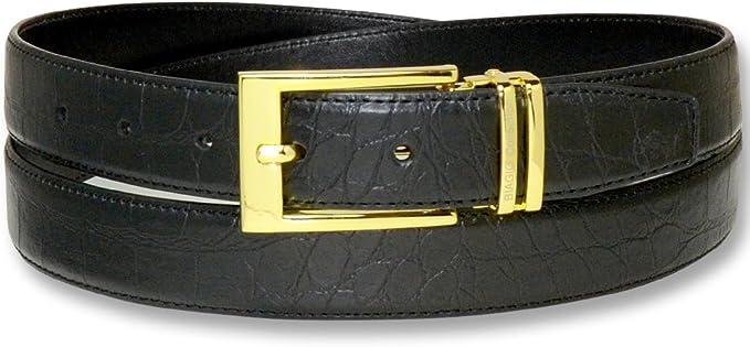 """Men/'s Genuine Leather Designer Dress Crocodile Belt 1-1//2/"""" Wide Black Brown"""