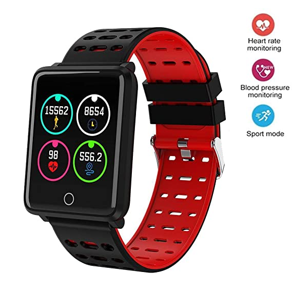 Onbio Smartwatch with All-Day Heart Rate and Activity Tracking, Sleep Monitoring, Ultra-Long Battery Life, Bluetooth, Compatible with iOS and Android ...