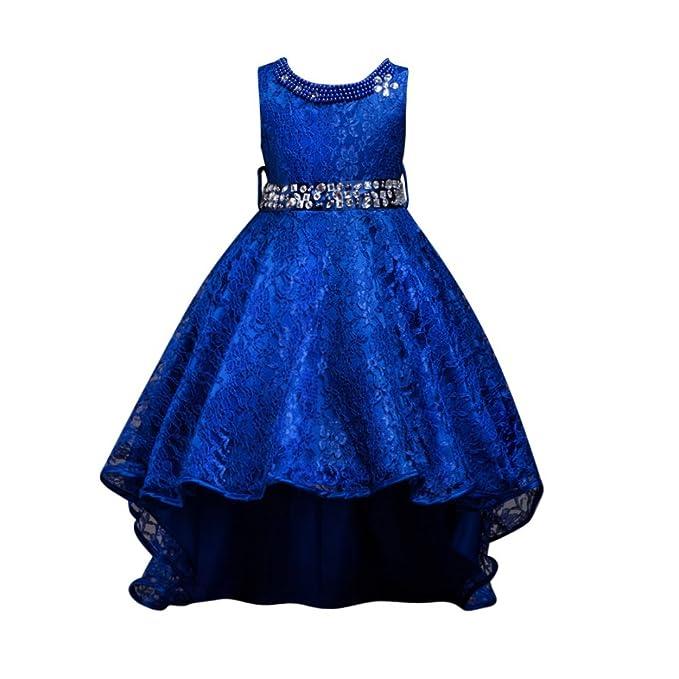 Brightup Bebé De Las Niñas De Cola Larga Fiesta Princesa Vestido Bonito, Vestido De Encaje