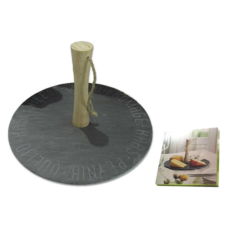 REVIMPORT 03/1773vassoio per formaggi in pietra nero 30x 30x 17, 5cm