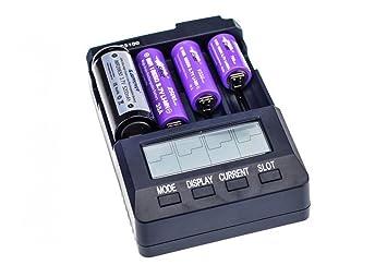 Opus Instrument BT-C3100 – Cargador de baterías de ión Litio, Ni-Mh y Ni-CD, Capacidad para 4 Unidades