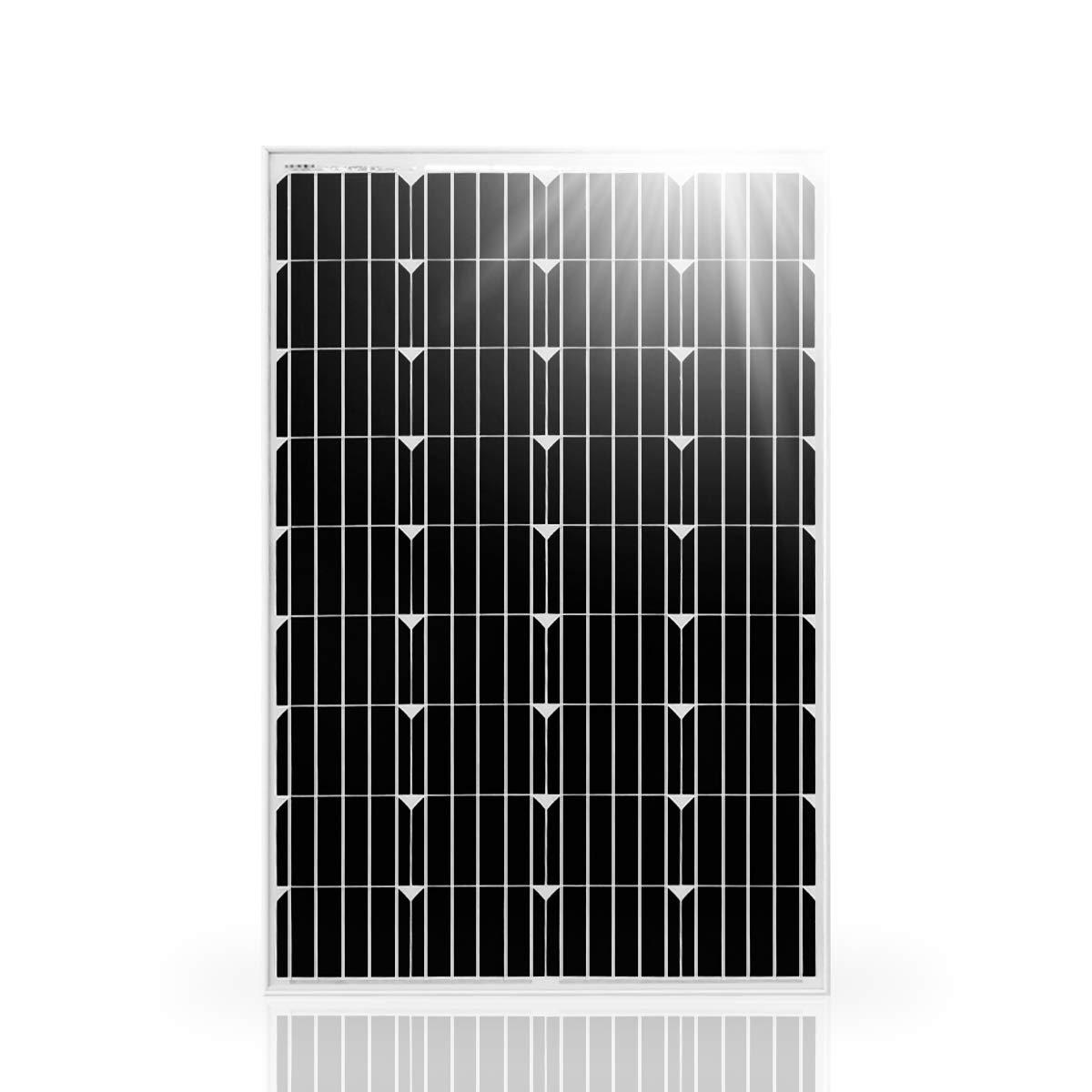 Betop-camp Modulo fotovoltaico fotovoltaico monocristallino da pannello solare da 100W 12V per la ricarica di un 12V in camper, roulotte, camper, barca o yacht o fuori dalla rete