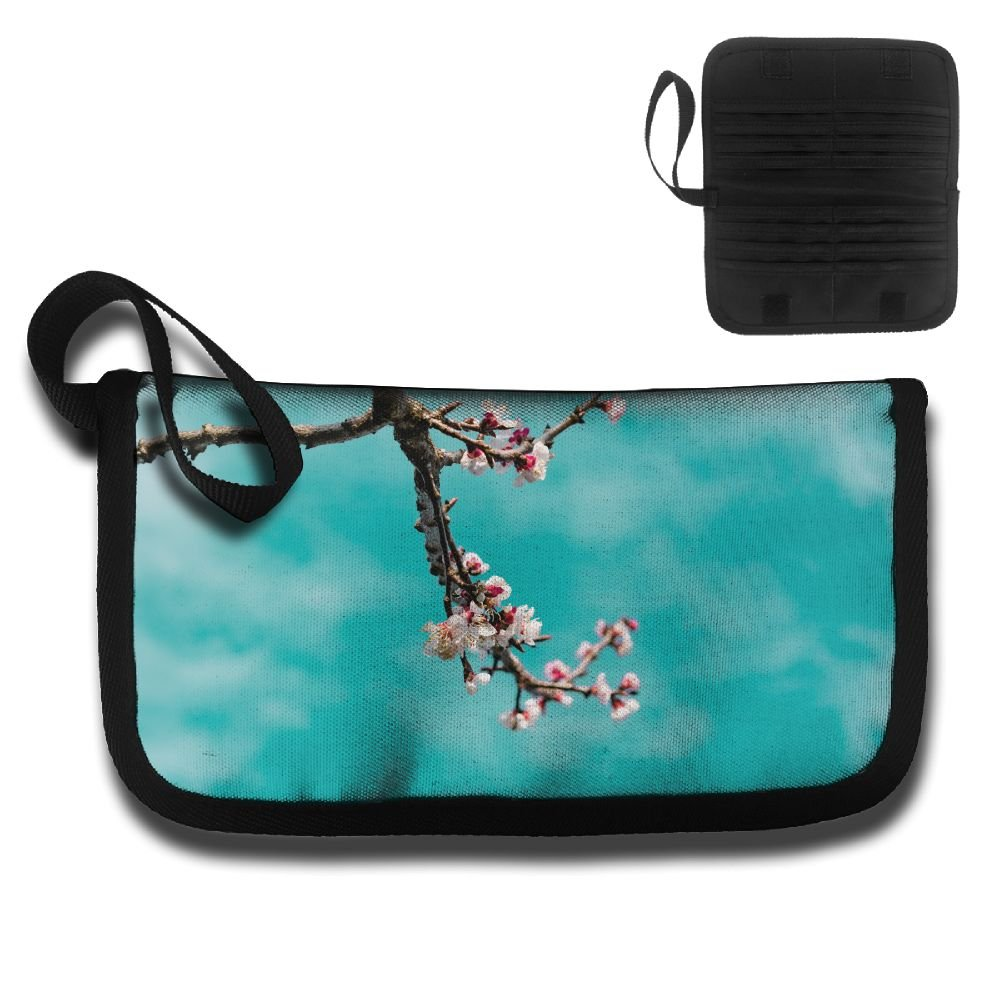 Gili Apricot Flowers Under Blue Sky Travel Passport /& Document Organizer Zipper Case