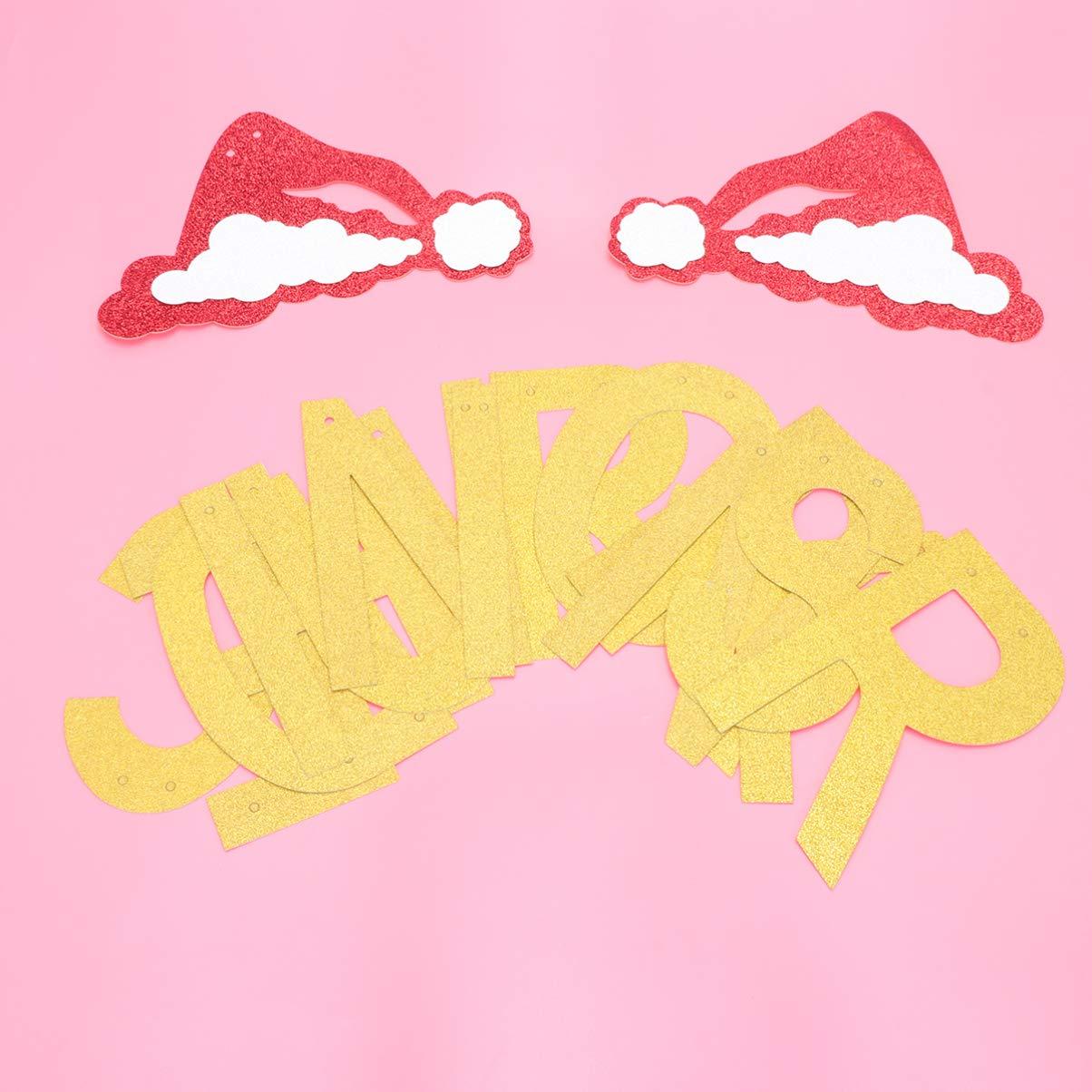 Amosfun Weihnachtszugflaggengetr/änk grinst Oben Fahnenweihnachtshuthochstuhlflaggenfahnen-Wandbehanghintergrund f/ür Weihnachtsfeiertags-Festivaldekoration