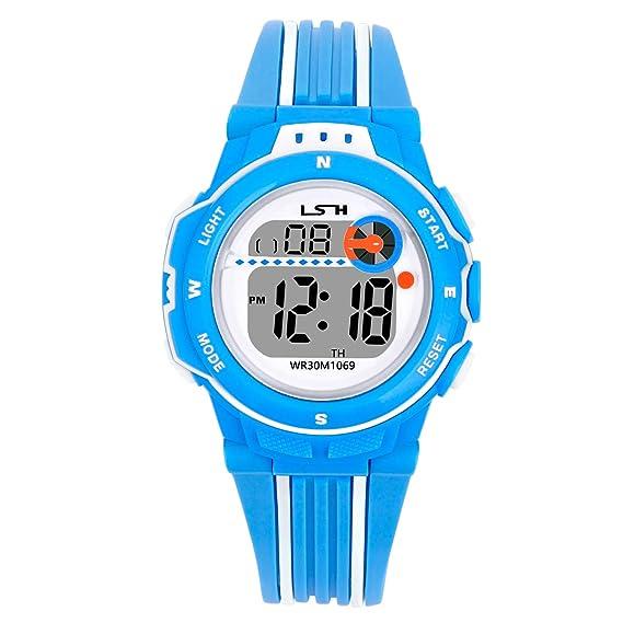 Reloj Digital para Niña,Niños Impermeabl Deportes al Aire Libre LED Multifuncionales Relojes de Pulsera