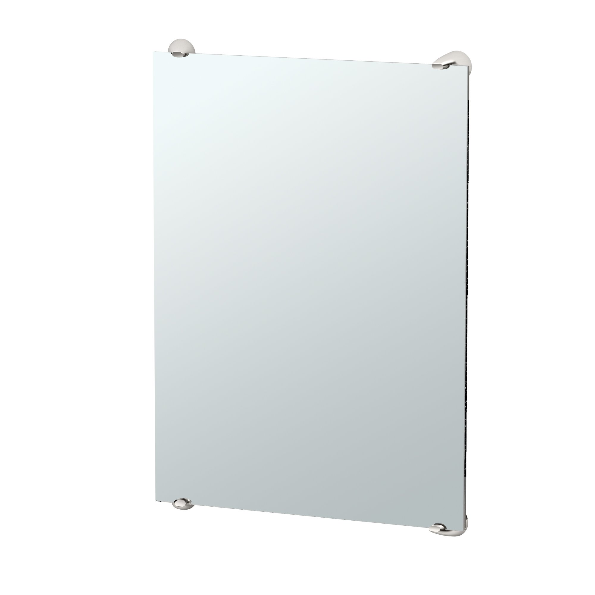 Gatco 1593 Brie Minimalist Bathroom Fixed Mounted Mirror, 30'', Satin Nickel