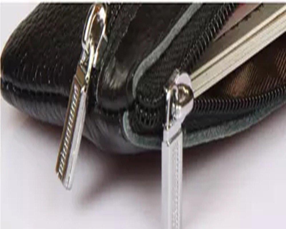 10 * 7cm PU Color Negro Azul Daliuing Funda Tipo Cartera Unisex para Tarjetas y Llaves