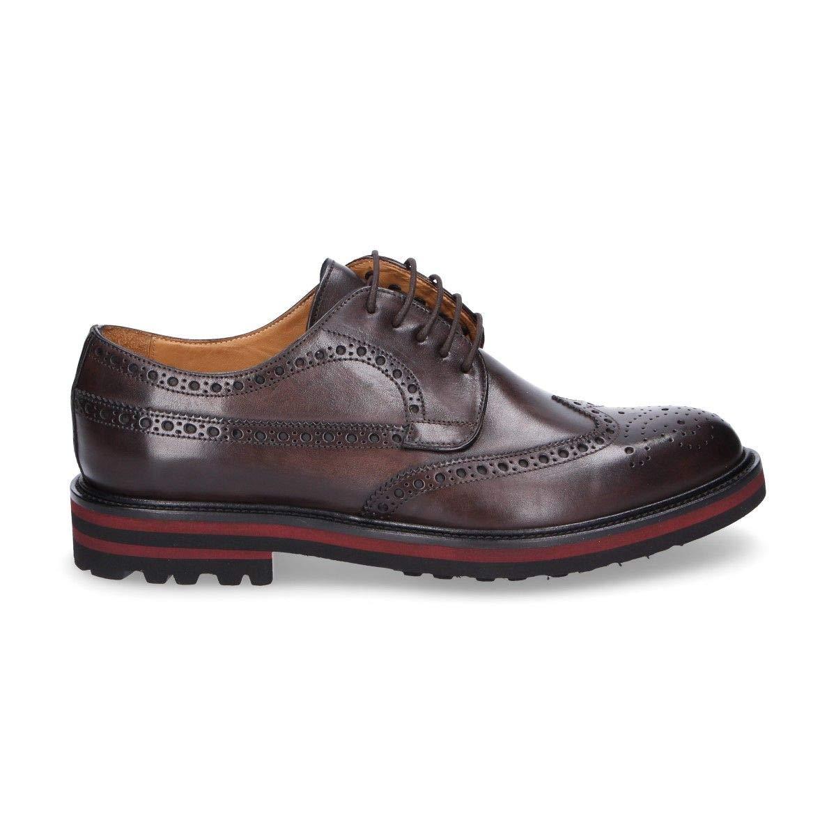 - ARTISTI E ARTIGIANI Men's 7191BORDEAUX Burgundy Leather Lace-Up shoes