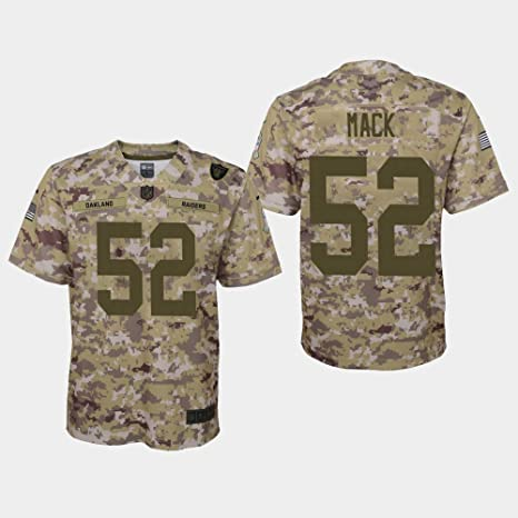 cfcdf0c27 Nike Khalil Mack Oakland Raiders NFL Youth Salute to Service Camo On-Field  Game Day