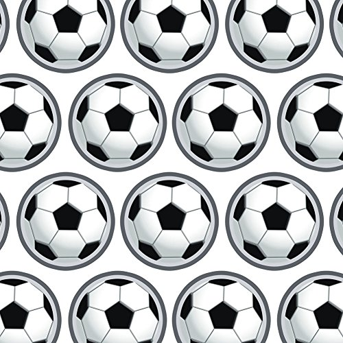 Premium Gift Wrap Wrapping Paper Roll Sports and Hobbies - Soccer Ball - Gift Wrap Ball