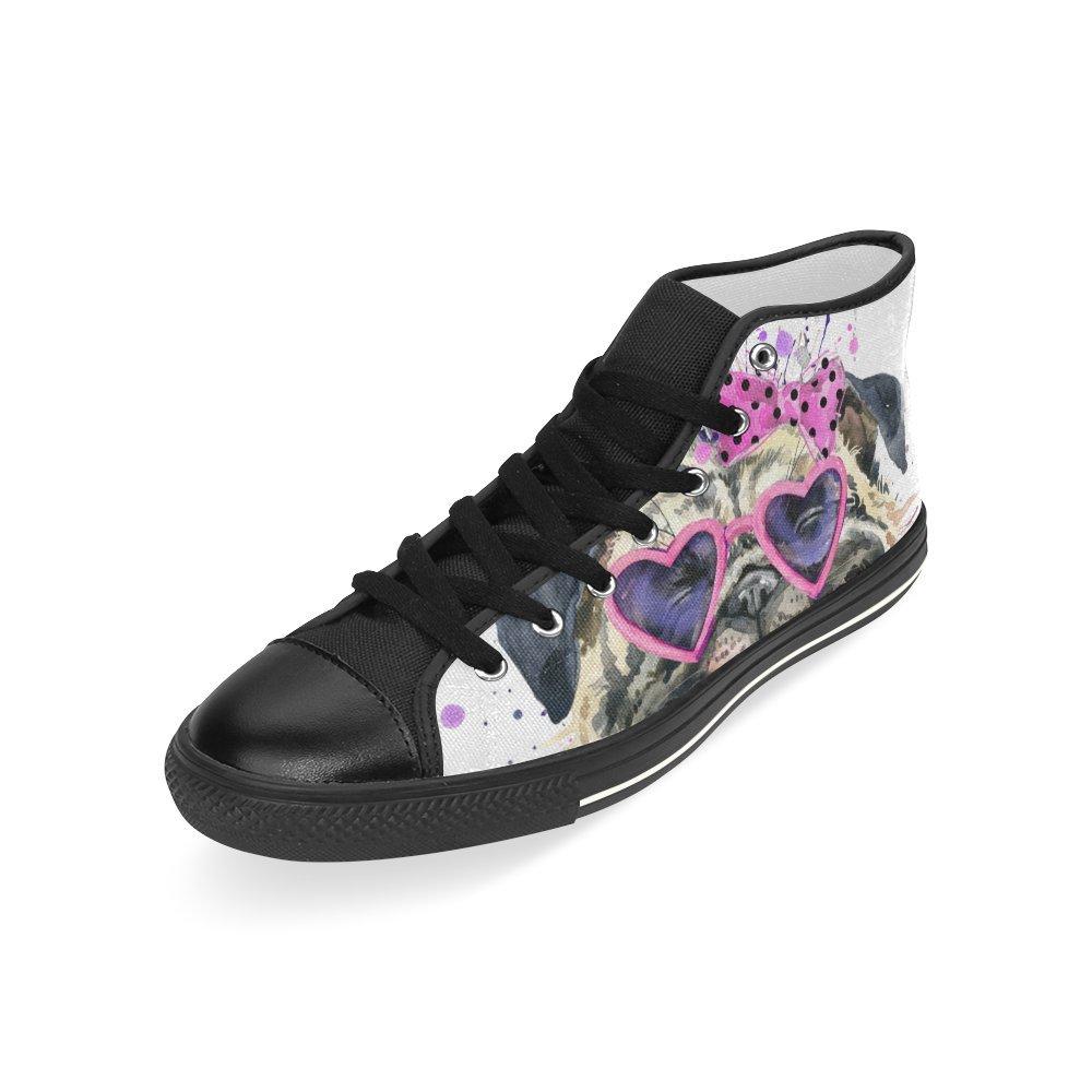 D-Story Custom Cute Dog Mens Classic High Top Canvas Shoes Fashion Sneaker