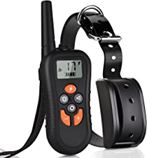 TinMiu Dog Training Collar 2018 Upgraded Collar 1650FT Remote 3 Training Modes with Tracking Light Fully Waterproof and Rechargeable Shock Collar for Small Medium Large Dogs