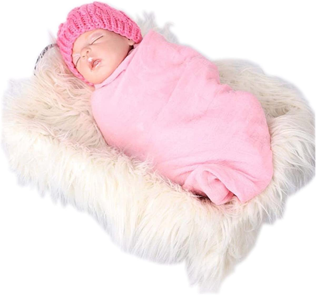 Voberry Baby Photo Props Newborn DIY Photography Soft Fur Quilt Photographic Mat