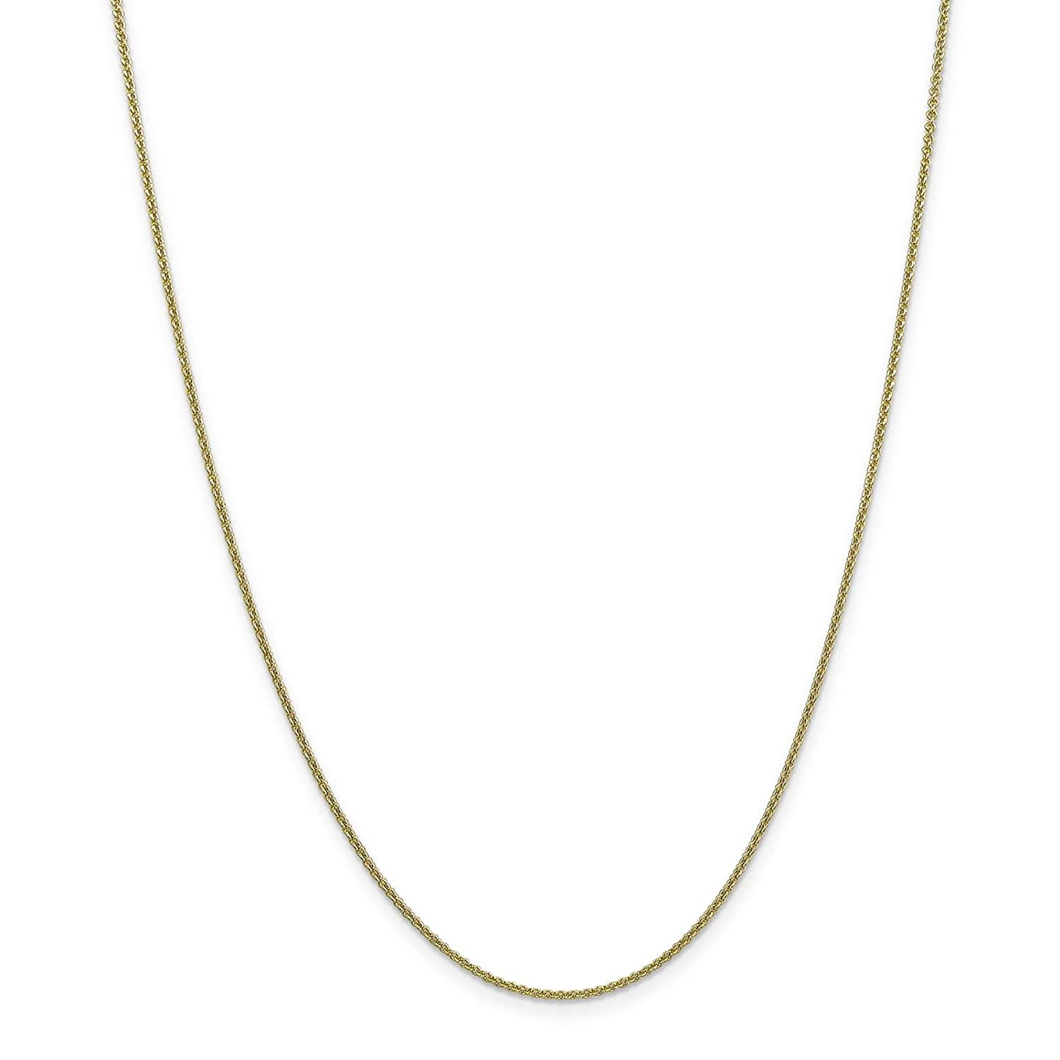 10k Yellow Gold Polished 1.5mm Cable Link Chain Bracelet Anklet 9